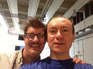 Con Carlo Gabardini