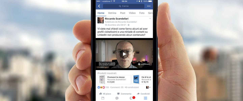 Come vendere prodotti e servizi nei post di Facebook